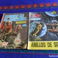 Tebeos: ROBOT 76 NºS 9 Y 12. TORAY 1967. 10 PTS. ANILLOS DE ORO Y CRIMEN EN EL ASTEROIDE. . Lote 112986147