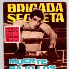 Tebeos: BRIGADA SECRETA. MUERTE BAJO LOS GUANTES. Nº 158. AÑO 1966. Lote 113246516
