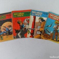 Tebeos: HAZAÑAS DEL OESTE - Nº 179/183/217/232 - AÑOS 1968/69/70/71 - EDICIONES TORAY. Lote 113261187