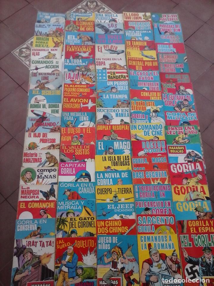 HAZAÑAS BÉLICAS GORILA LOTE 82 NºS - BUEN-MUY BUEN ESTADO, VER PORTADAS, TODAS (Tebeos y Comics - Toray - Hazañas Bélicas)