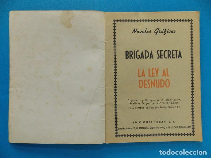 Tebeos: NOVELA GRAFICA - BRIGADA SECRETA Nº 87 - AÑO 1965 - EDICIONES TORAY... R-8616 - Foto 2 - 115053779
