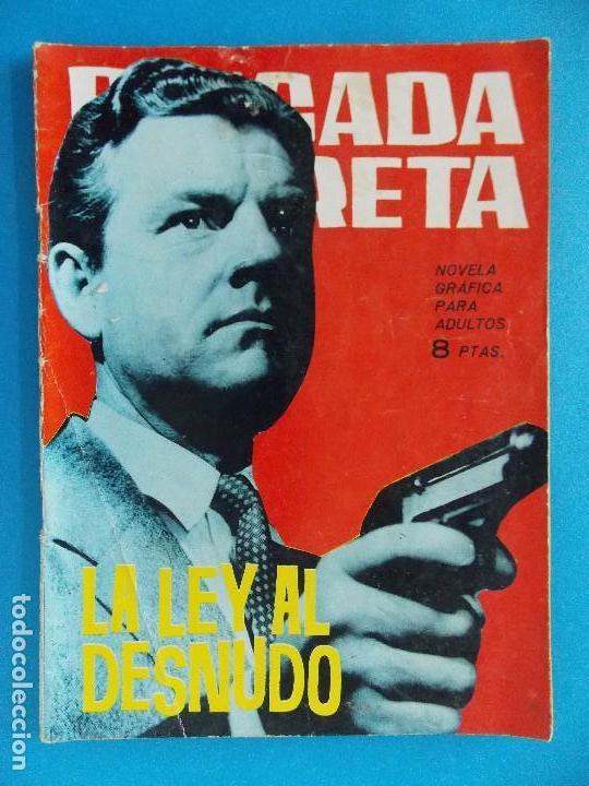 NOVELA GRAFICA - BRIGADA SECRETA Nº 87 - AÑO 1965 - EDICIONES TORAY... R-8616 (Tebeos y Comics - Toray - Brigada Secreta)