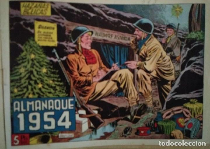 Tebeos: Hazañas Bélicas 25 numeros encuadernados del 76 al 100 mas almanaque 1954 que esta delante - Foto 4 - 115144015