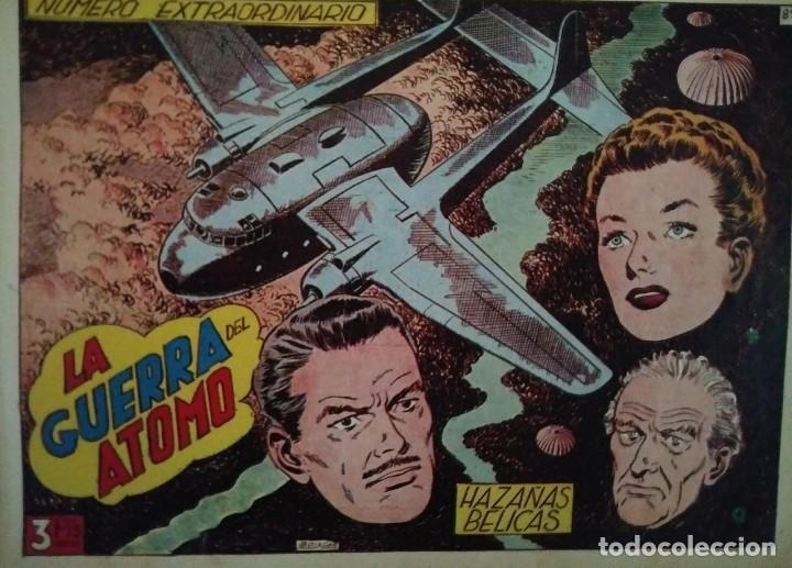 Tebeos: Hazañas Bélicas 25 numeros encuadernados del 76 al 100 mas almanaque 1954 que esta delante - Foto 17 - 115144015