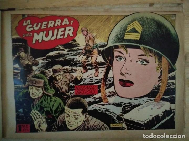 Tebeos: Hazañas Bélicas 25 numeros encuadernados del 76 al 100 mas almanaque 1954 que esta delante - Foto 19 - 115144015