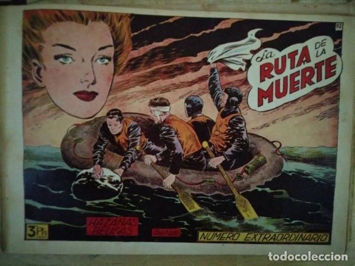Tebeos: Hazañas Bélicas 25 numeros encuadernados del 76 al 100 mas almanaque 1954 que esta delante - Foto 22 - 115144015