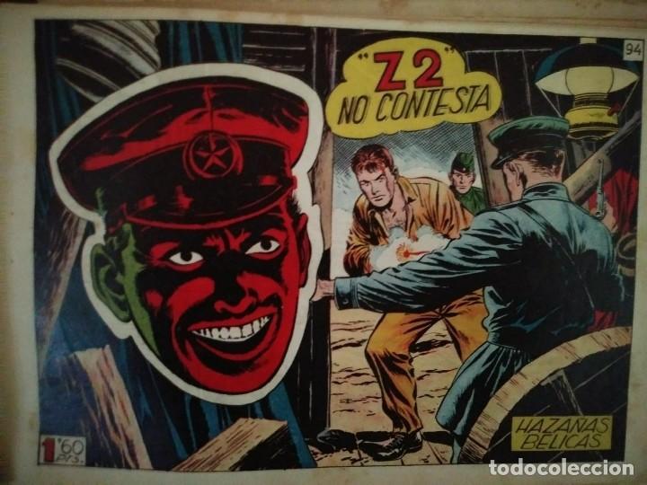 Tebeos: Hazañas Bélicas 25 numeros encuadernados del 76 al 100 mas almanaque 1954 que esta delante - Foto 24 - 115144015