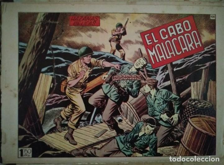 Tebeos: Hazañas Bélicas 25 numeros encuadernados del 76 al 100 mas almanaque 1954 que esta delante - Foto 30 - 115144015