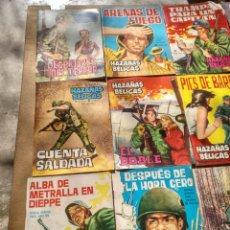 Tebeos: LOTE DE 15 HAZAÑAS BELICAS CASCO DE ACERO RELATOS DE GUERRA. Lote 115872426