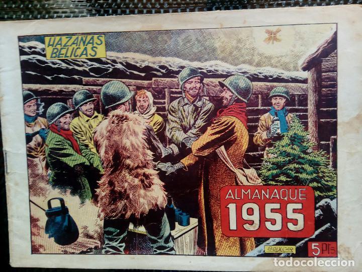 ALMANAQUE 1955 HAZAÑAS BELICAS , EDT. TORAY - ORIGINAL (M-1) (Tebeos y Comics - Toray - Hazañas Bélicas)