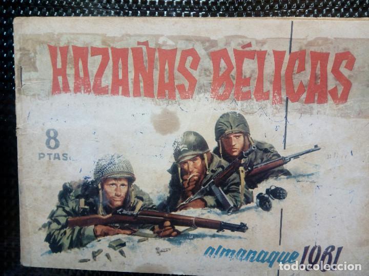 ALMANAQUE 1961 HAZAÑAS BELICAS , EDT. TORAY - ORIGINAL (M-1) (Tebeos y Comics - Toray - Hazañas Bélicas)