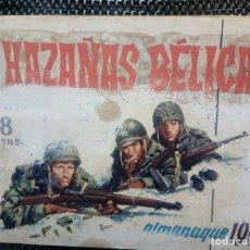 Tebeos: ALMANAQUE 1961 HAZAÑAS BELICAS , EDT. TORAY - ORIGINAL (M-1). Lote 116271611