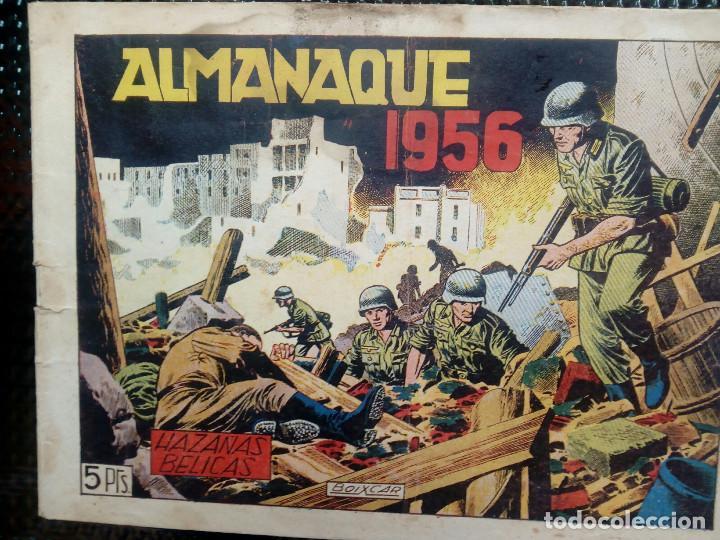 ALMANAQUE 1956 HAZAÑAS BELICAS , EDT. TORAY - ORIGINAL (M-1) (Tebeos y Comics - Toray - Hazañas Bélicas)