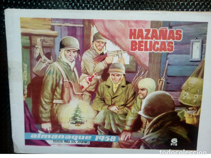 ALMANAQUE 1958 HAZAÑAS BELICAS , EDT. TORAY - ORIGINAL (M-1) (Tebeos y Comics - Toray - Hazañas Bélicas)