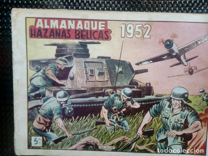 ALMANAQUE 1952 HAZAÑAS BELICAS , EDT. TORAY - ORIGINAL (M-1) (Tebeos y Comics - Toray - Hazañas Bélicas)