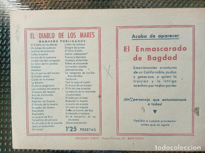 Tebeos: COMIC EL DIABLO DE LOS MARES Nº 51 - ORIGINAL - EDIC. TORAY (M - 1) - Foto 2 - 116547167