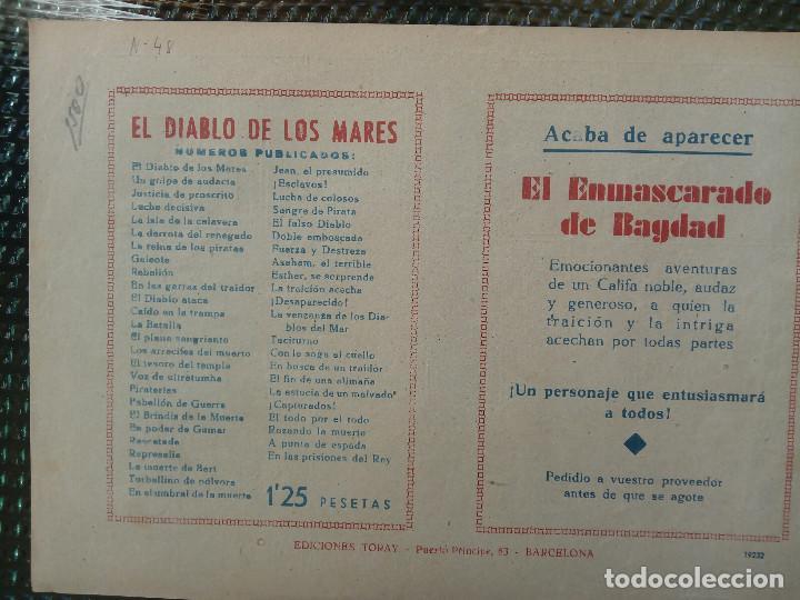 Tebeos: COMIC EL DIABLO DE LOS MARES Nº 48 - ORIGINAL - EDIC. TORAY (M-1) - Foto 2 - 116547787