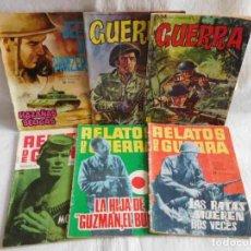 Tebeos: M69 LOTE DE 6 TEBEOS DE LAS COLECCIONES GUERRA, RELATOS DE GUERRA Y HAZAÑAS BELICAS.. Lote 116563411