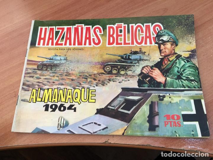 HAZAÑAS BELICAS ALMANAQUE 1964 MUY BUEN ESTADO (TORAY) (COI65) (Tebeos y Comics - Toray - Hazañas Bélicas)