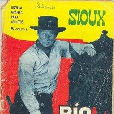 Tebeos: SIOUX - Nº 56 - RÍO TURBULENTO- 1966- GRAN A. PÉREZ- REGULAR ESTADO-MUY ESCASO-LEAN-8447. Lote 117780547