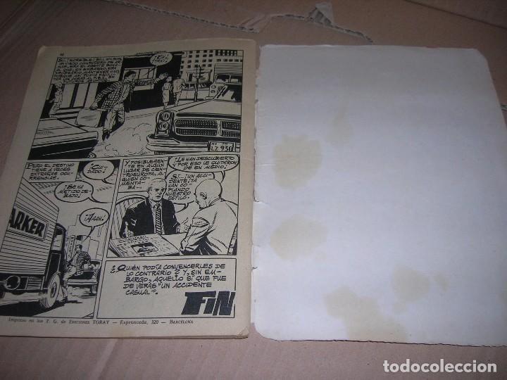 Tebeos: Accidente casual. Novela gráfica espionaje. Ediciones Toray, año 1966. Con 48 páginas. - Foto 2 - 118105095