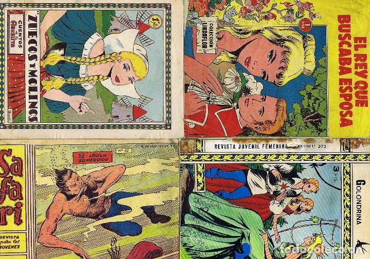 LOTE 74 COMICS AZUCENA, SENTIMENTAL, LINDAFLOR, ETC (Tebeos y Comics - Toray - Azucena)