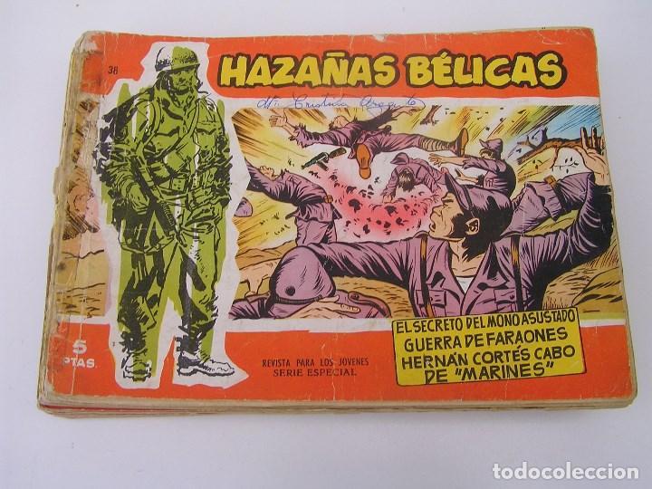 LOTE DE 16 COMICS HAZAÑAS BELICAS SERIE ROJA (AÑOS 50) (VER NUMEROS EN DESCRIPCION) . COMIC TORAY. (Tebeos y Comics - Toray - Hazañas Bélicas)