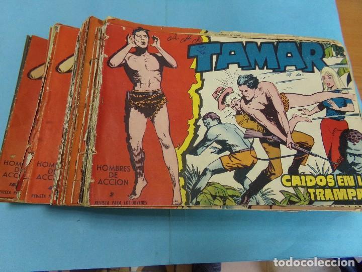 110 TEBEOS TAMAR, ORIGINAL 22 SON PROCEDENTES DE ENCUADERNACCION, (Tebeos y Comics - Toray - Tamar)