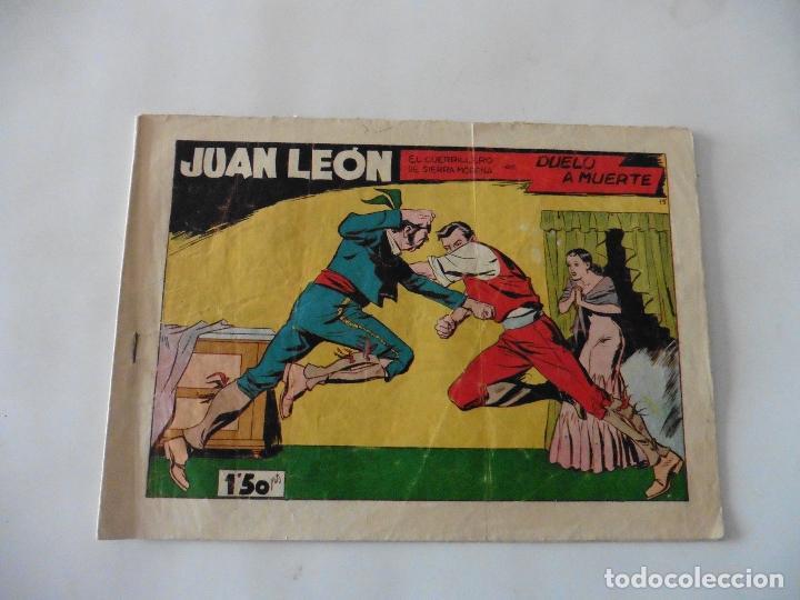 JUAN LEON Nº 15 ORIGINAL (Tebeos y Comics - Toray - Otros)