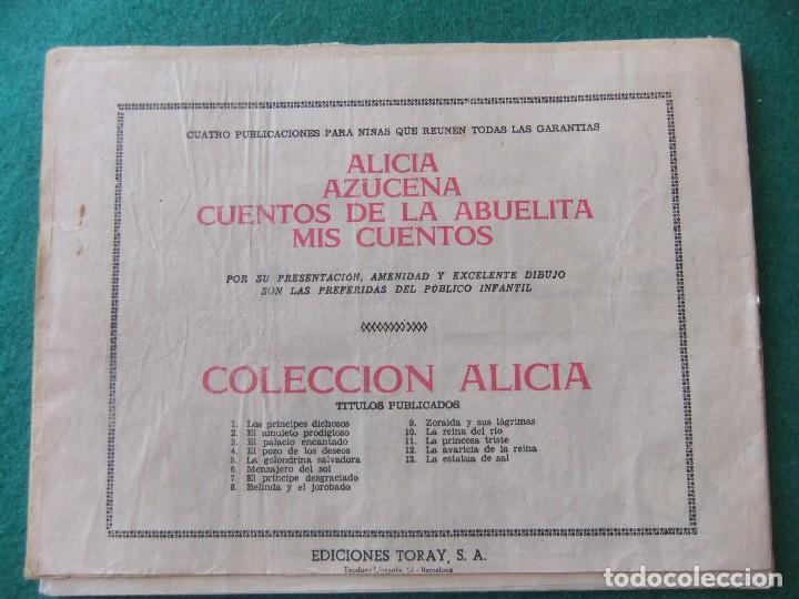 Tebeos: COLECCION ALICIA Nº 13 LA ESTATUA DE SAL EDICIONES TORAY - Foto 2 - 123113115