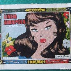 Tebeos: COLECCION GRACIELA Nº177 LINDA AMAPOLA EDICIONES TORAY. Lote 123114239