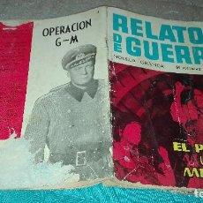Tebeos: RELATOS DE GUERRA Nº4 EL PESO DE UNA MEDALLA- MUY DIFICIL. Lote 123779995