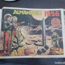 Tebeos: EL MUNDO FUTURO 17 COMICS Y ALMANAQUE 1956 ENCUADERNADOS EN UN TOMO EDICIONES TORAY CON TAPAS DURAS. Lote 124893995