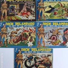 Tebeos: COM-29. DICK RELAMPAGO. 5 HISTORIETAS. NUMEROS 64 A 68. EDITORIAL TORAY. AÑO 1959. ORIGINALES.. Lote 126791407
