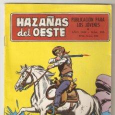 Tebeos: HAZAÑAS DEL OESTE - Nº200 - PASO UN TEXAS RANGER - TORAY 1959 - 6 PTS -. Lote 126870763