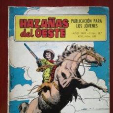 Tebeos: HAZAÑAS DEL OESTE, N°187. Lote 127121532