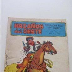 Tebeos: HAZAÑAS DEL OESTE - Nº 213 - ORO EN LA MONTAÑA - TORAY 1959 - 6 PTS CS135. Lote 128339391