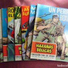 Tebeos: TEBEOS.HAZAÑAS BELICAS.ED. TORAY.1968.8 NÚMEROS EN TOTAL.. Lote 128640511
