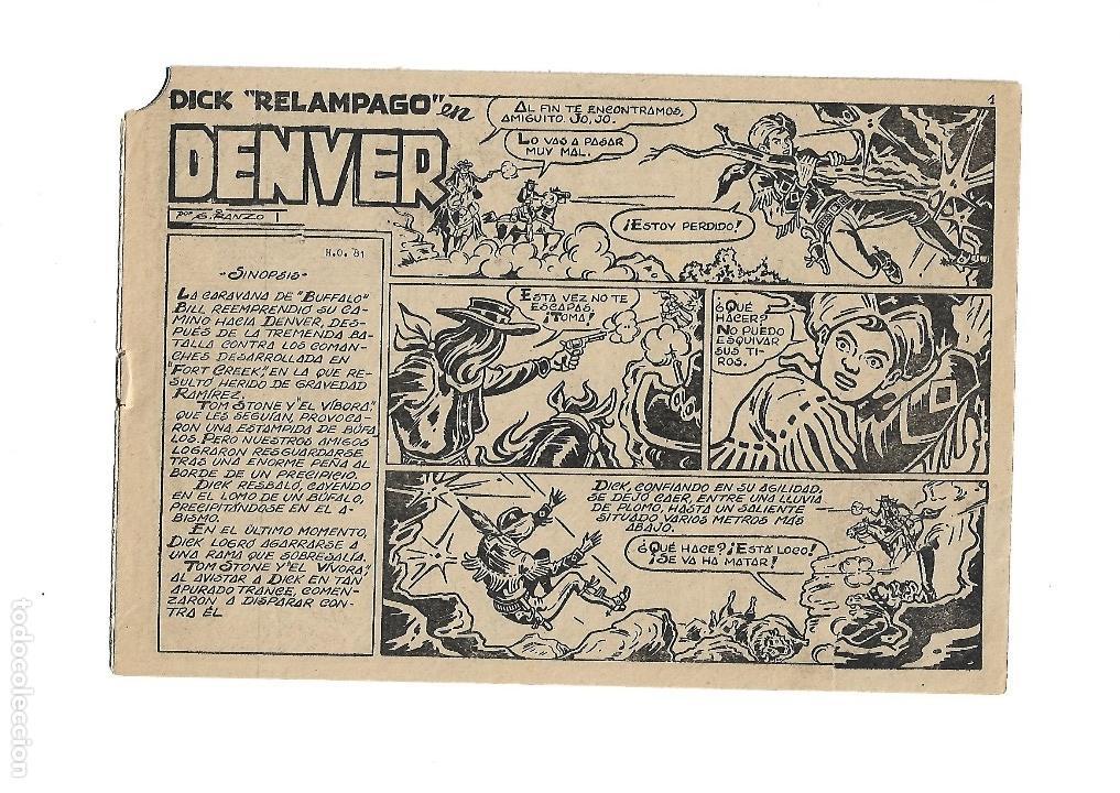 Tebeos: Dick Relámpago, Año 1.960. Colección Completa son 28. Tebeos Originales Dibujante G. Iranzo. - Foto 31 - 128968119