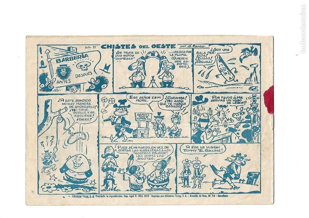 Tebeos: Dick Relámpago, Año 1.960. Colección Completa son 28. Tebeos Originales Dibujante G. Iranzo. - Foto 36 - 128968119