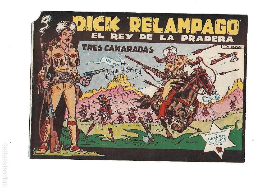 Tebeos: Dick Relámpago, Año 1.960. Colección Completa son 28. Tebeos Originales Dibujante G. Iranzo. - Foto 2 - 128968119