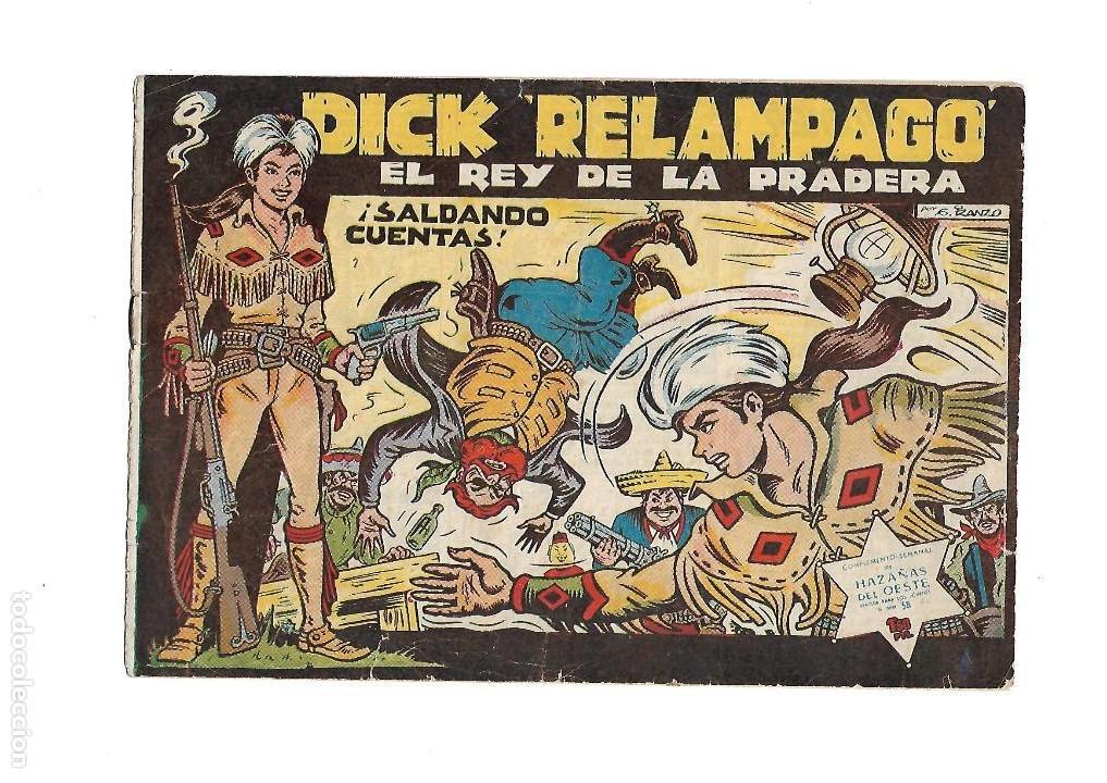 Tebeos: Dick Relámpago, Año 1.960. Colección Completa son 28. Tebeos Originales Dibujante G. Iranzo. - Foto 4 - 128968119