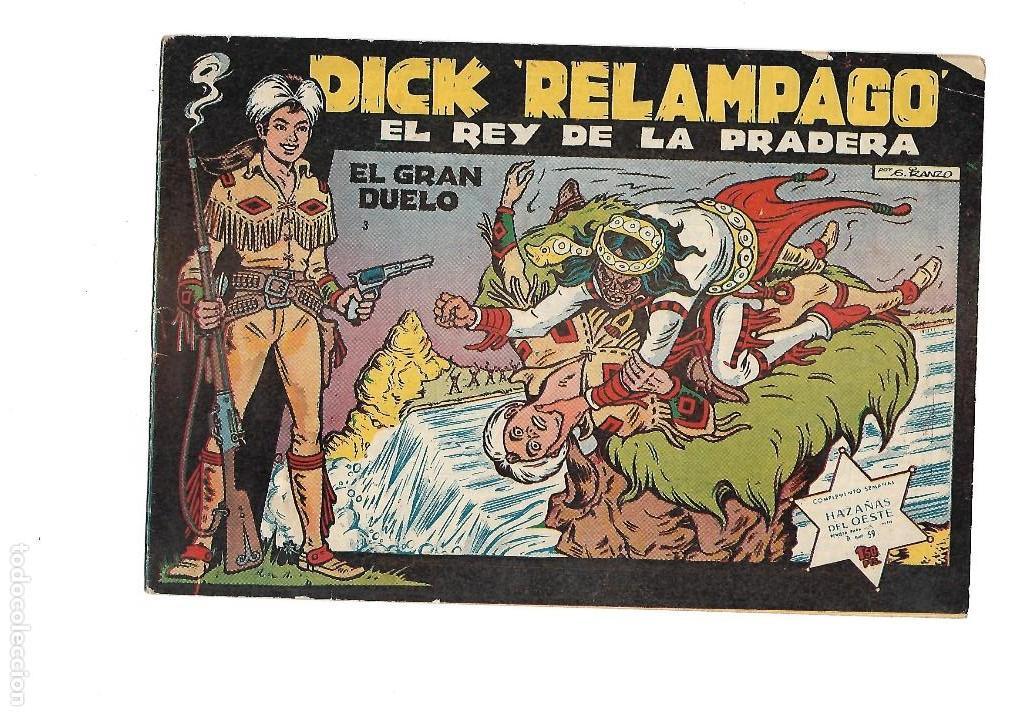 Tebeos: Dick Relámpago, Año 1.960. Colección Completa son 28. Tebeos Originales Dibujante G. Iranzo. - Foto 5 - 128968119
