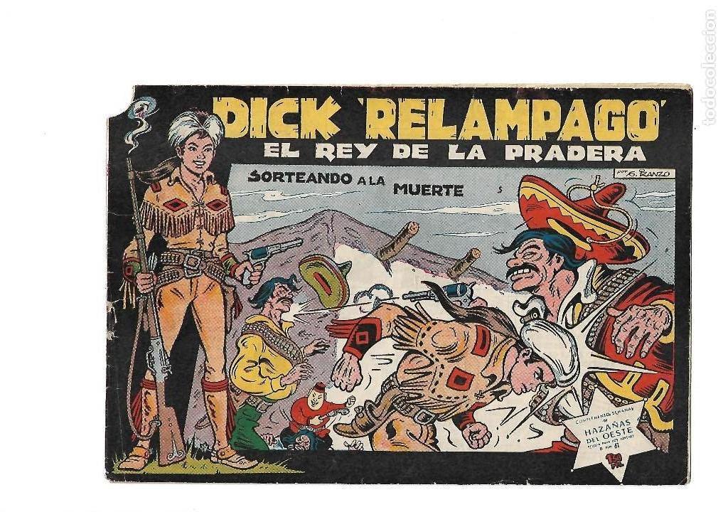 Tebeos: Dick Relámpago, Año 1.960. Colección Completa son 28. Tebeos Originales Dibujante G. Iranzo. - Foto 7 - 128968119