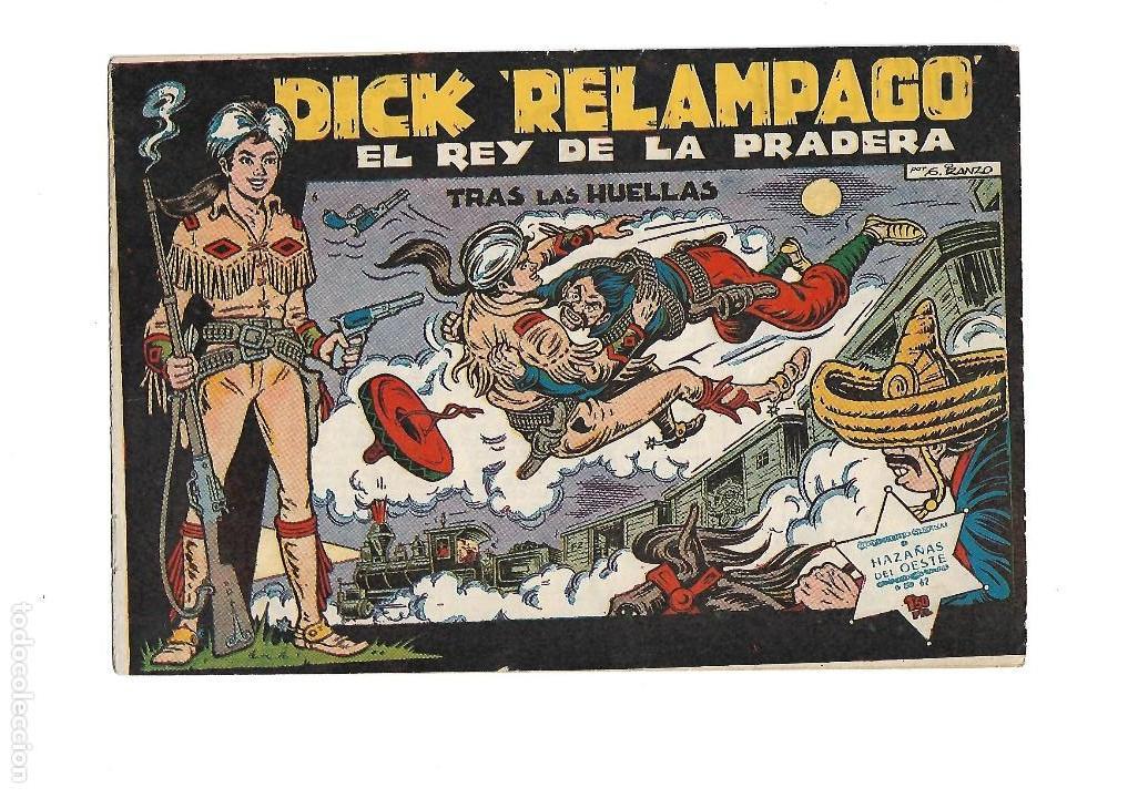 Tebeos: Dick Relámpago, Año 1.960. Colección Completa son 28. Tebeos Originales Dibujante G. Iranzo. - Foto 8 - 128968119