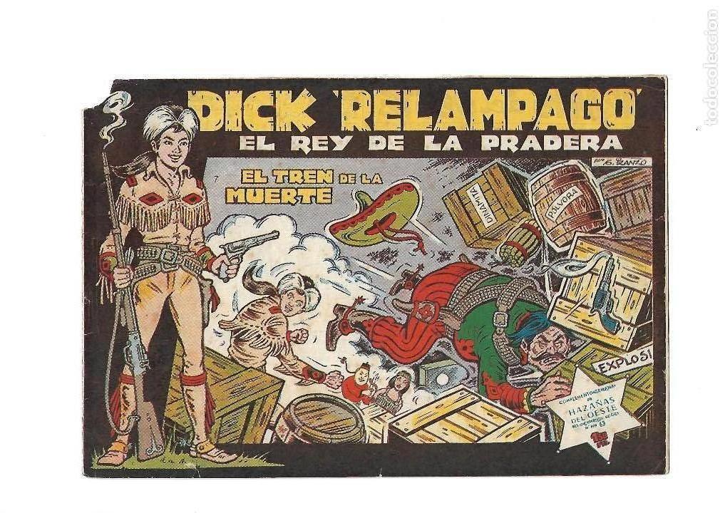Tebeos: Dick Relámpago, Año 1.960. Colección Completa son 28. Tebeos Originales Dibujante G. Iranzo. - Foto 9 - 128968119