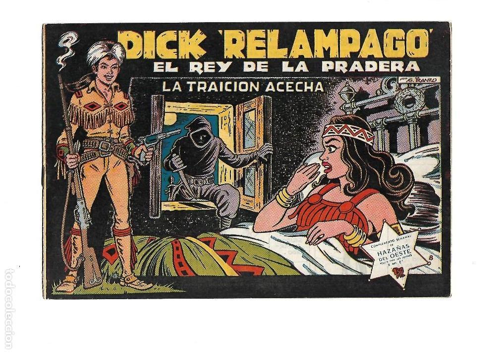 Tebeos: Dick Relámpago, Año 1.960. Colección Completa son 28. Tebeos Originales Dibujante G. Iranzo. - Foto 10 - 128968119