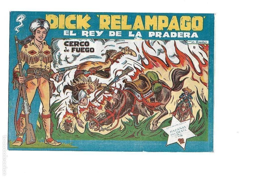 Tebeos: Dick Relámpago, Año 1.960. Colección Completa son 28. Tebeos Originales Dibujante G. Iranzo. - Foto 12 - 128968119