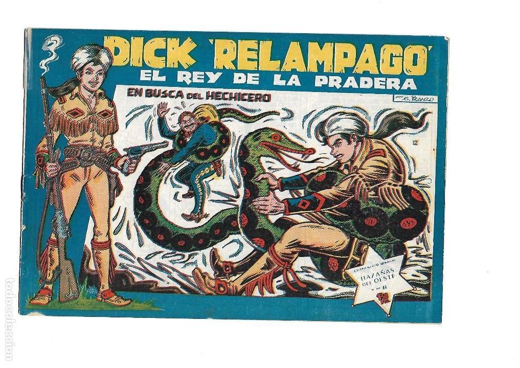 Tebeos: Dick Relámpago, Año 1.960. Colección Completa son 28. Tebeos Originales Dibujante G. Iranzo. - Foto 14 - 128968119