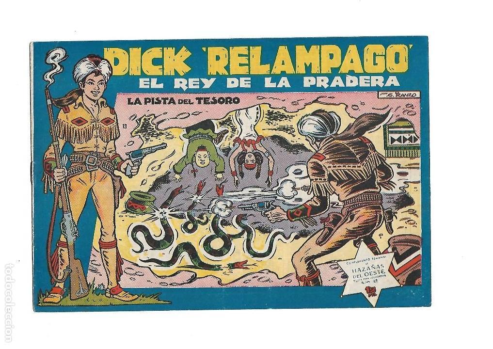 Tebeos: Dick Relámpago, Año 1.960. Colección Completa son 28. Tebeos Originales Dibujante G. Iranzo. - Foto 15 - 128968119